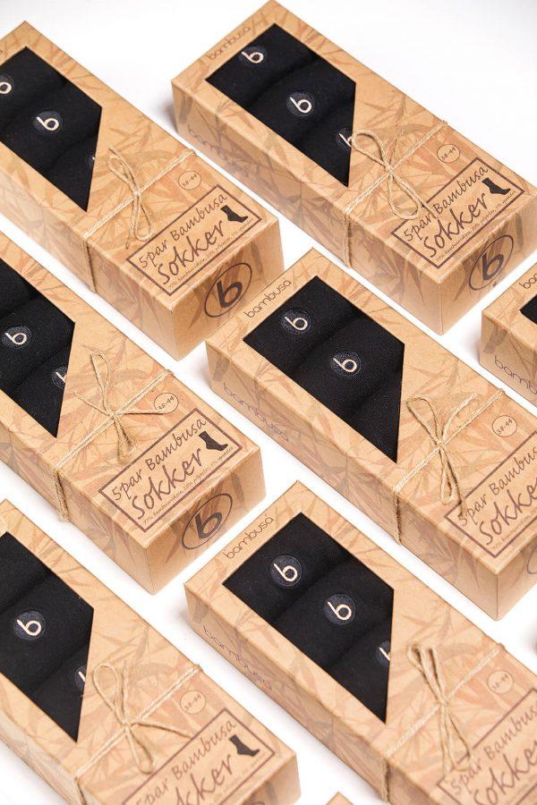 Sorte dressokker av bambus fra Bambusa